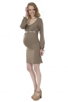 Robe de grossesse Coriandre Taupe