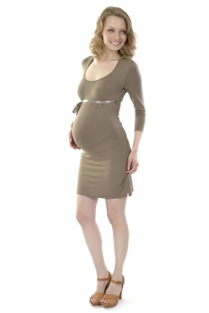 Robe de grossesse Menthe taupe