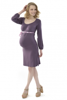 Robe grossesse courte Lilas prune