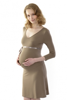 Robe de grossesse Opale chic Taupe