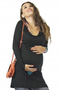 Tunique de grossesse noire Antares