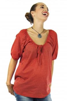 Blouse allaitement Lorène rouge