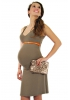 Robe de grossesse Agate taupe