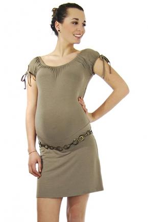 Robe de grossesse Citronnelle taupe