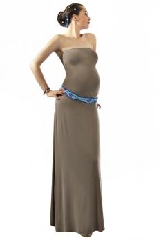 Robe grossesse habillée Kiwi taupe