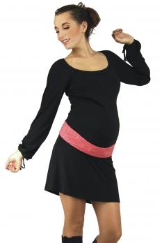 Robe de grossesse courte noire Lily