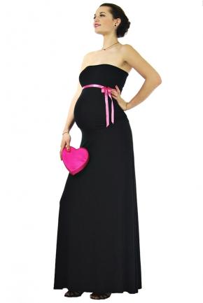 Robe grossesse habillée Kiwi noire
