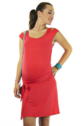 Robe d'allaitement Savannah rouge corail