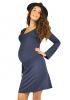 Robe de grossesse courte bleu nuit Chloé