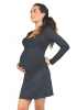 Robe de grossesse courte bleu nuit Emma