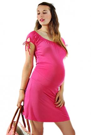 Robe de grossesse Citronnelle framboise