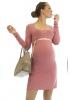 Robe de grossesse courte vieux rose Emma