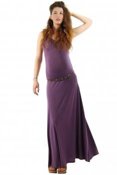 Robe de grossesse longue Prune Abricot