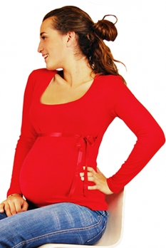 Haut de grossesse Florence rouge carmin