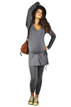 Legging de grossesse gris