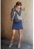 Jupe de grossesse courte bleu nuit Manon