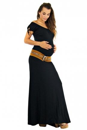 Jupe de grossesse longue Vanille noire