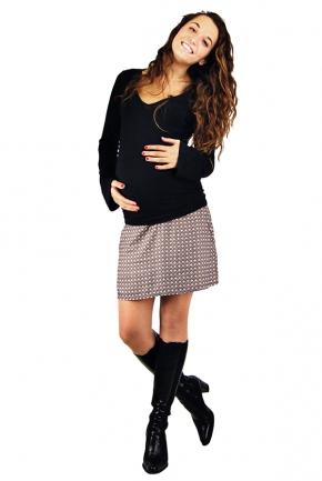 Jupe de grossesse courte Sarah imprimés Rétro