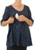 Top d'allaitement Naïa Dot Bleu