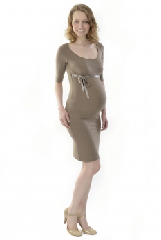 Robe de grossesse Cannelle taupe