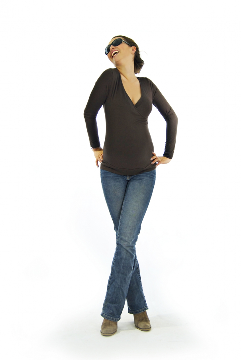 haut d 39 allaitement chocolat oslo tee shirt allaitement. Black Bedroom Furniture Sets. Home Design Ideas